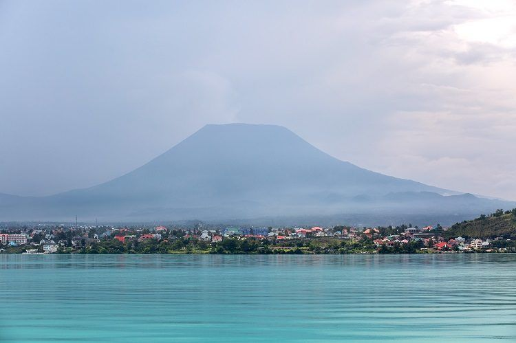 Lake Kivu next to Goma Town
