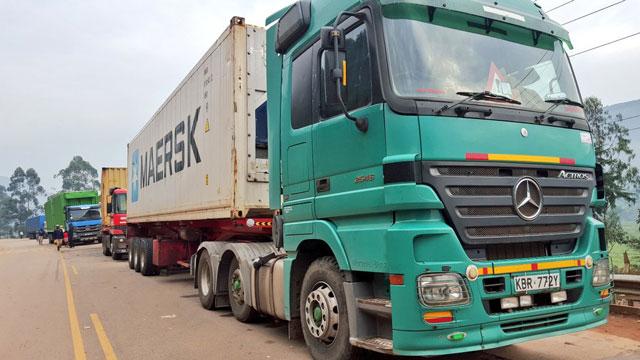 Cargo Vehicles Crossing Katuna Border
